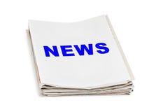 Pila de noticias de los periódicos Fotografía de archivo