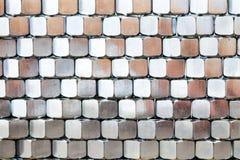 Pila de nueces del metal Imagen de archivo