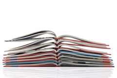 Pila de nuevo libro con las paginaciones de doblez fotos de archivo libres de regalías