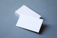 Pila de opinión superior gruesa de las tarjetas de visita Fotografía de archivo