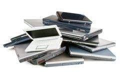 Pila de ordenadores portátiles Fotografía de archivo