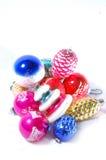Pila de ornamentos de la Navidad Imágenes de archivo libres de regalías