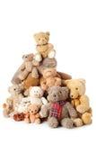 Pila de osos del peluche | Aislado Imagen de archivo