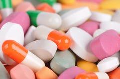 Pila de píldoras Imágenes de archivo libres de regalías