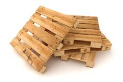 Pila de paletas de madera imagenes de archivo