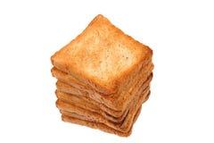 Pila de pan de la tostada Imagen de archivo libre de regalías
