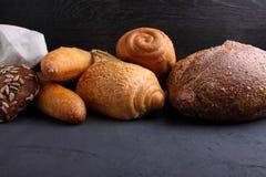Pila de pan de lujo Fotografía de archivo