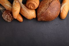 Pila de pan de lujo Fotos de archivo