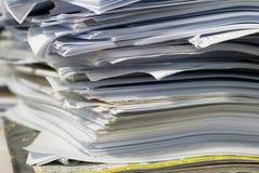 Pila de papel Imagen de archivo libre de regalías