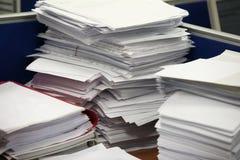 Pila de papel fotos de archivo