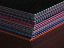 Pila de papel de construcción en macro Imagen de archivo libre de regalías