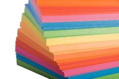 Pila de papel de notas multicolor imagenes de archivo