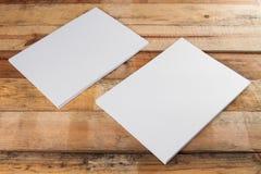 Pila de papel en blanco A4 Fotos de archivo libres de regalías