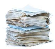 Pila de papel viejo Imágenes de archivo libres de regalías