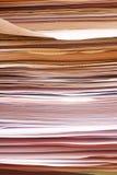 Pila de papeles Fotografía de archivo