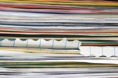 Pila de papeles Foto de archivo libre de regalías