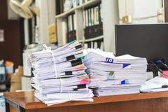 Pila de papeles imágenes de archivo libres de regalías