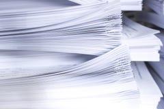 Pila de papeles Imagen de archivo libre de regalías