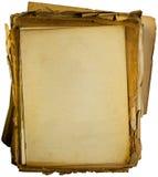 Pila de papeles en blanco viejos Imagen de archivo libre de regalías