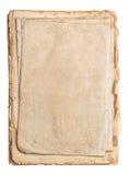 Pila de papeles viejos aislados en blanco Fotos de archivo libres de regalías