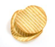 Pila de patatas fritas Fotos de archivo libres de regalías