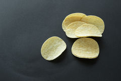 Pila de patatas fritas Imagen de archivo libre de regalías