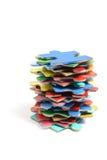 Pila de pedazos del rompecabezas de rompecabezas Fotos de archivo libres de regalías