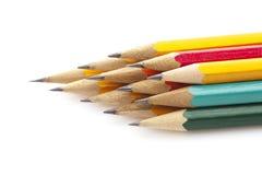 Pila de pensils multicolores Imágenes de archivo libres de regalías