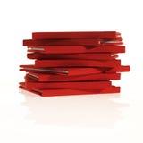 Pila de pequeños libros rojos Imagen de archivo libre de regalías