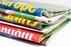 Pila de periódico Foto de archivo libre de regalías