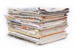 Pila de periódico Fotos de archivo libres de regalías