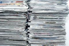 Pila de periódico Imágenes de archivo libres de regalías