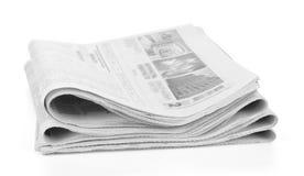 Pila de periódicos aislada Imagen de archivo