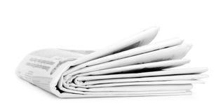 Pila de periódicos aislada Fotos de archivo