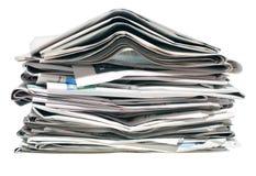 Pila de periódicos viejos Imagen de archivo libre de regalías