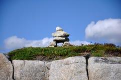 Pila de piedra cerca de la ensenada de Peggys Fotografía de archivo