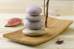 Pila de piedra equilibrada Imagenes de archivo