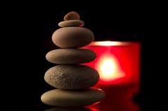 Pila de piedra equilibrada Fotografía de archivo libre de regalías
