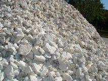 Pila de piedra machacada Foto de archivo libre de regalías