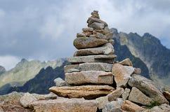 Pila de piedras Fotografía de archivo libre de regalías