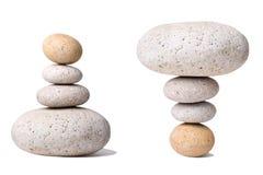 Pila de piedras con un contrario Foto de archivo libre de regalías