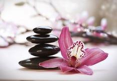 Pila de piedras del zen
