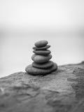 Pila de piedras del zen Imágenes de archivo libres de regalías