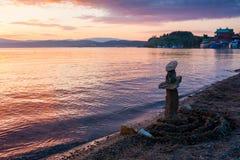 Pila de piedras en la playa Foto de archivo libre de regalías