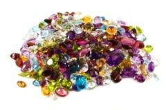 Pila de piedras preciosas flojas imagen de archivo libre de regalías