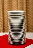 Pila de placas Imagen de archivo libre de regalías