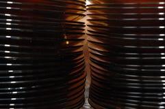 Pila de placas de cristal Imágenes de archivo libres de regalías