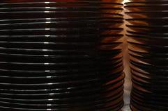 Pila de placas de cristal Imagen de archivo