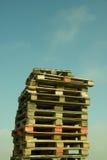 Pila de plataformas de madera Fotografía de archivo