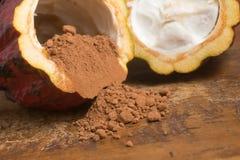 Pila de polvo de cacao imágenes de archivo libres de regalías